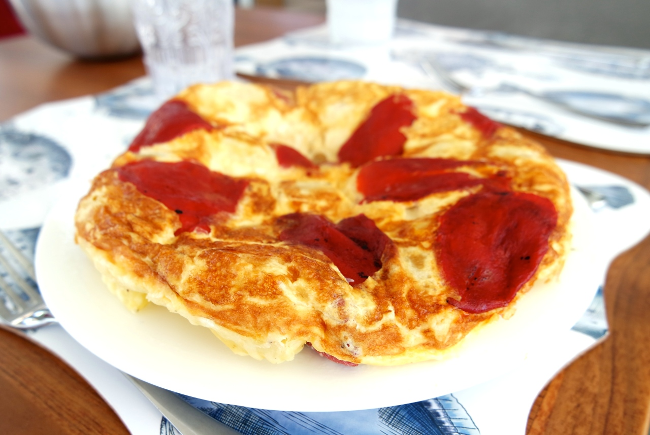 Simple and a bit posh…Tortilla Tatin!